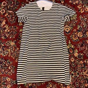 JCrew black and White striped dress